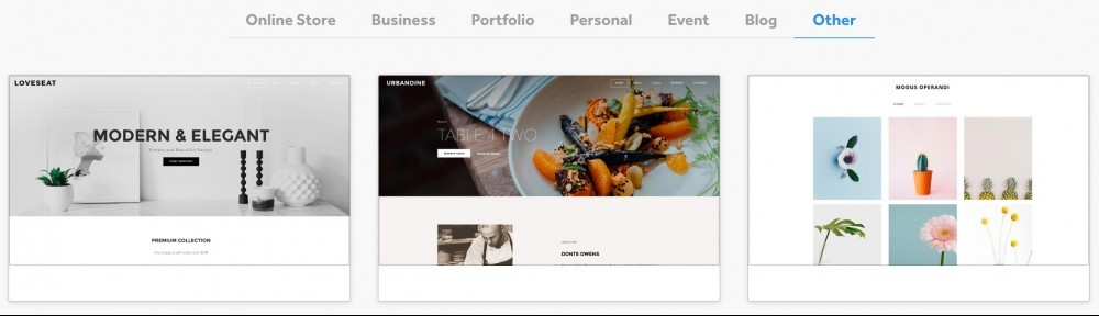 Weebly-Other Themes