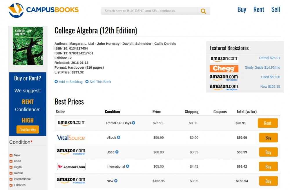 How to Buy Cheap College Textbooks on CampusBooks?
