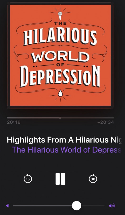 the hilarious world of depression podcast review