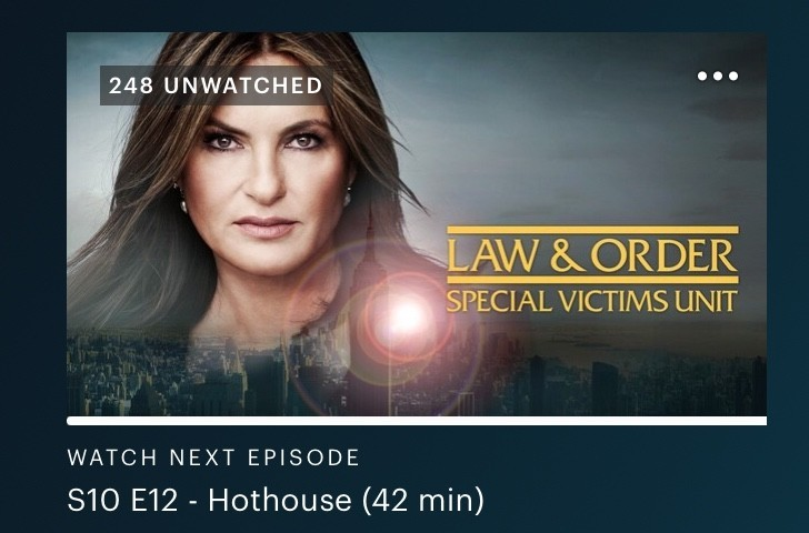 law and order svu on Hulu
