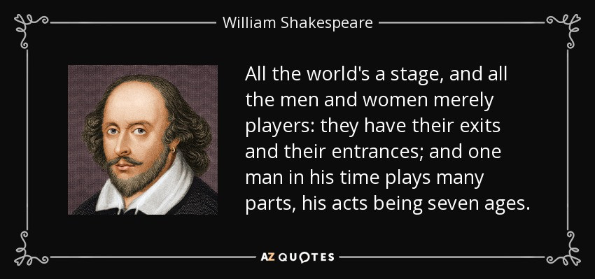 Shakespeare All The World's A Stage
