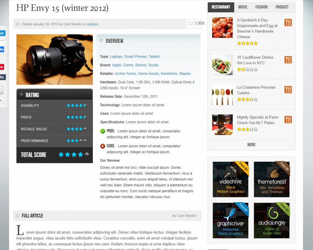 Swag Review WP Theme