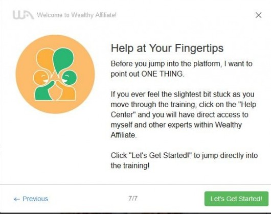 Wealthy Affiliate Let's Get Started