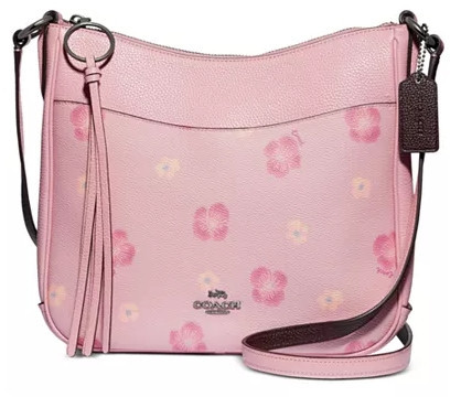 Coach Chaise Pansy Print Leather Crossbody