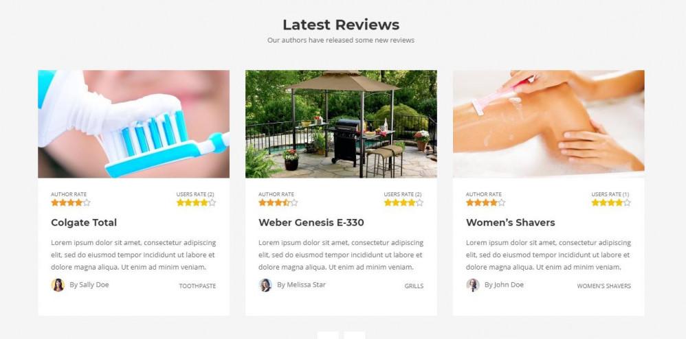 Reviews WordPress Theme