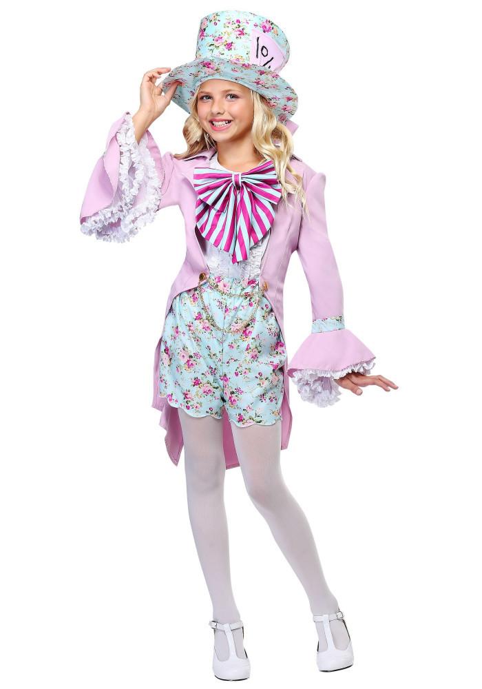 Pretty Mad Hatter Girls Costume