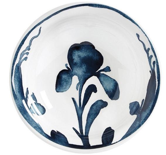 Bunny Williams Watercolor Iris Melamine Bowl - Set of 4