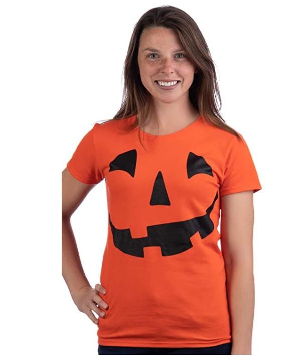 Jack O' Lantern Pumpkin Ladies' T-Shirt