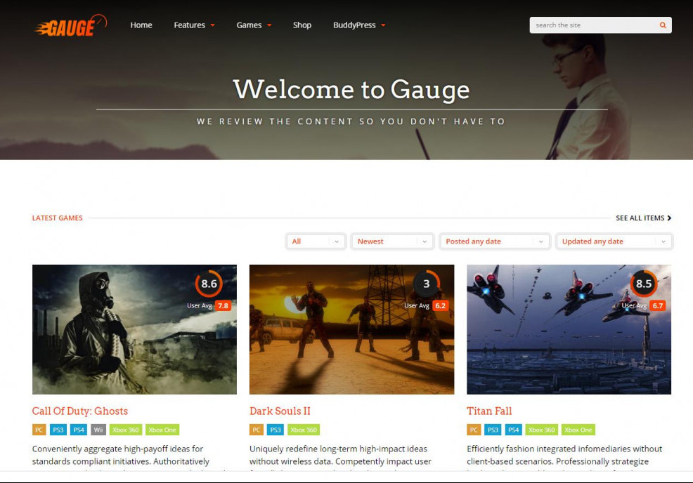 Gauge Review WP Site