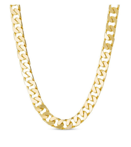 Men's Solid Curb Chain Necklace in 10K Gold