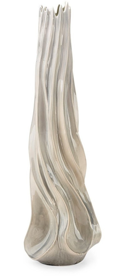 Coraline Grey and Beige Large Floor Vase