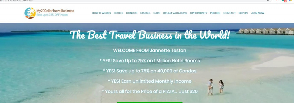 My20Dollar Travel Business