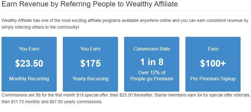Wealthy Affiliate Earnings