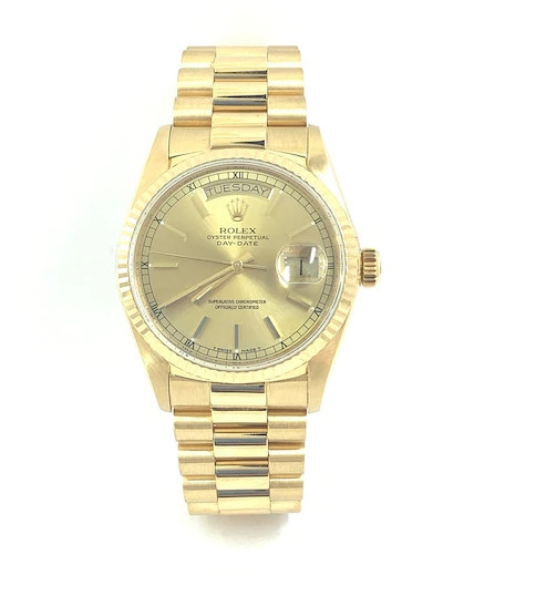 Men's Rolex Presidential 18K Gold Watch with Champagne Dial