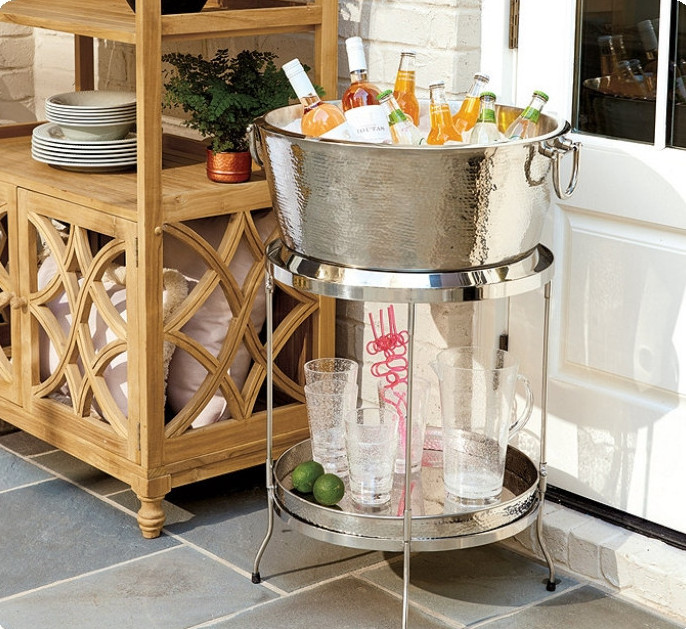 Avalon Double Walled Beverage Tub with Stand & Tray