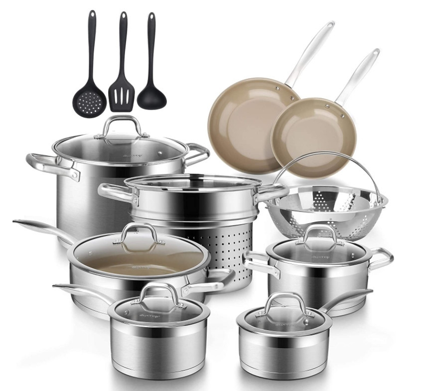 Duxtop 17PC Professional Stainless Steel Induction Cookware Set