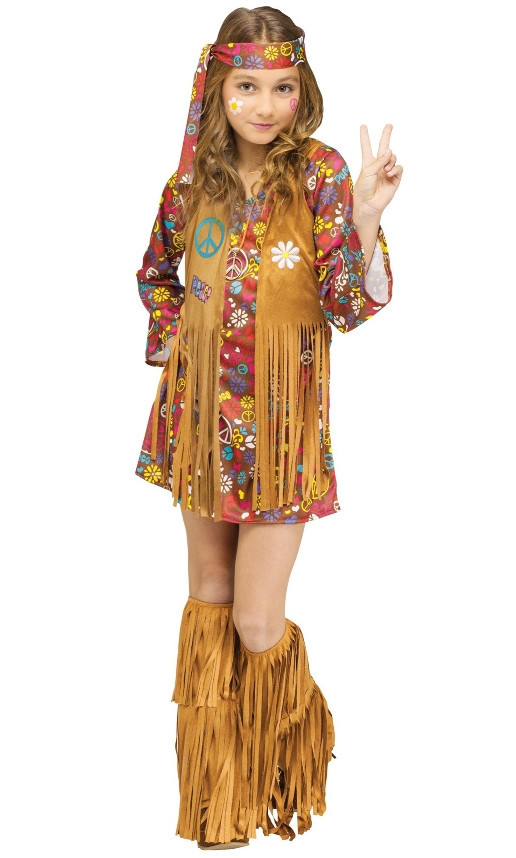 Kids Peace & Love Hippie Costume