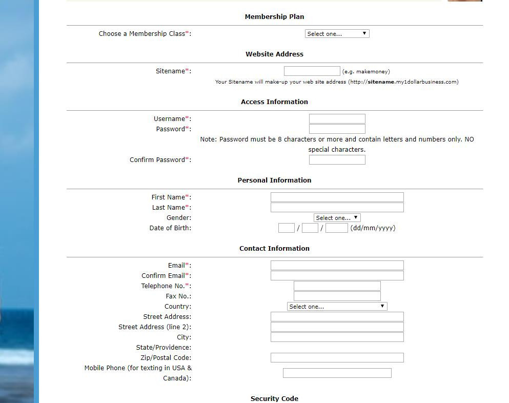 My20Dollar Travel Business Signup