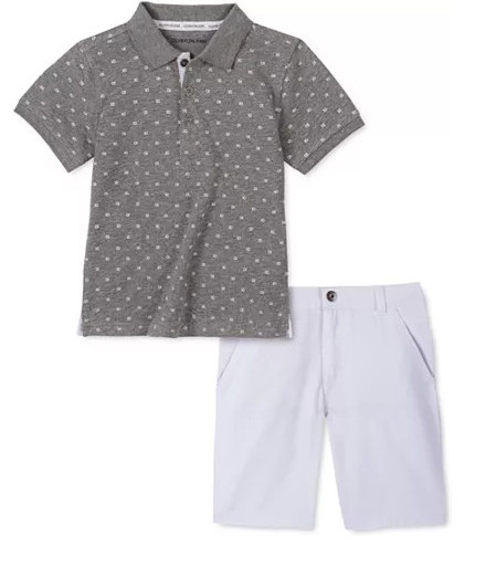Little Toddler Boys Calvin Klein 2 Piece Short Set