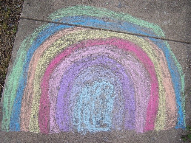 Social Distancing and Keeping Kids Connected- sidewalk chalk