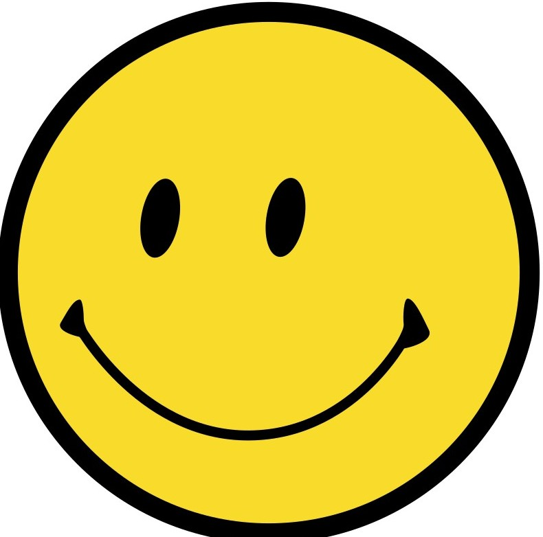 Huge Yellow smile, circle