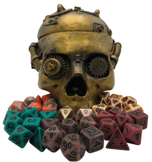 steam punk dice and dice box