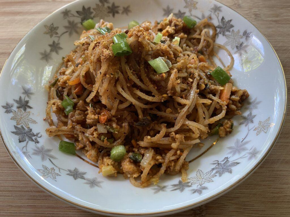 Pan Fried Rice Noodles