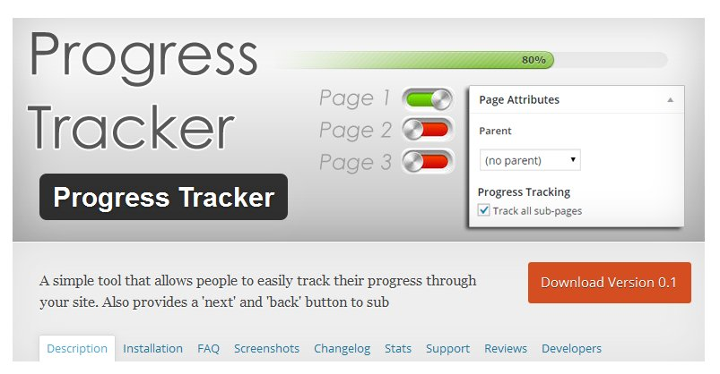 looking for the wordpress progress tracker plugin new trend from wp