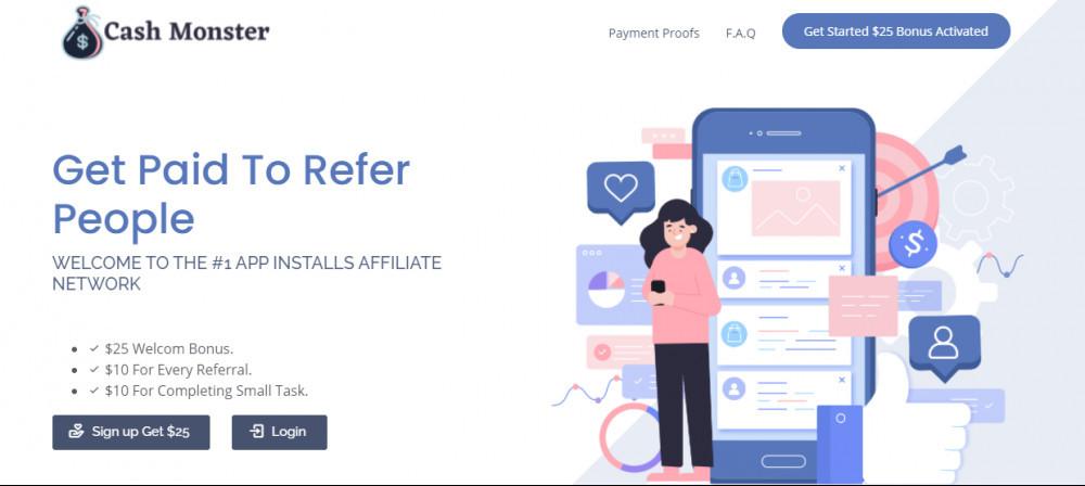 cashmonster.co screenshot
