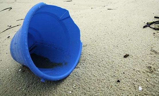 broken plastic bucket