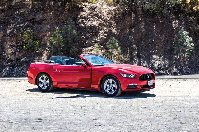 What Is The Power Of Thought - Red convertible GT Mustang