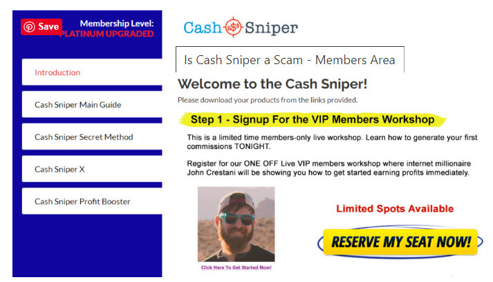 What Is Cash Sniper About? - landing page