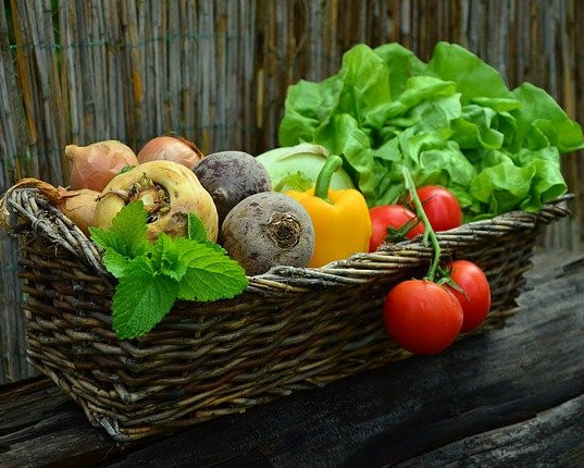 The Benefits to Growing Your Own Food - basket of vegetables