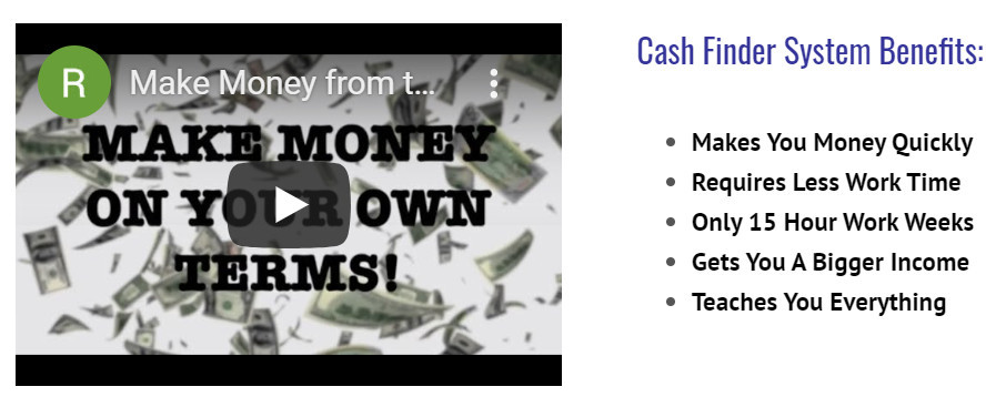 What Is The Cash Finder System About? - product page reviewed