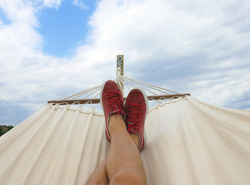 What To Do On Staycation - relaxing in a hammock