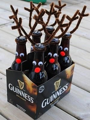 Thoughtful Inexpensive Christmas Gifts - reindeer six-pack