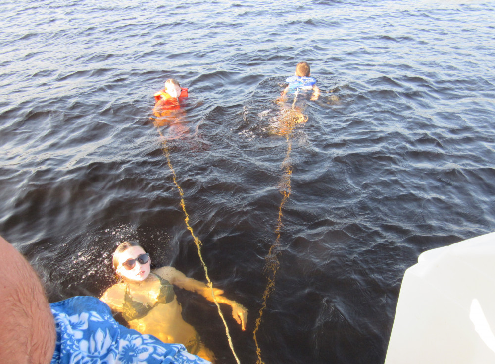 Best Mini-vacations - here's what we did - kids swam tied to boat