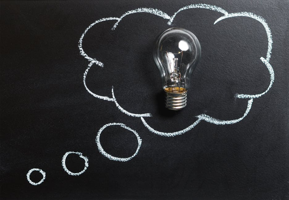 What Is The Power Of Thought - lightbulb in a cloud
