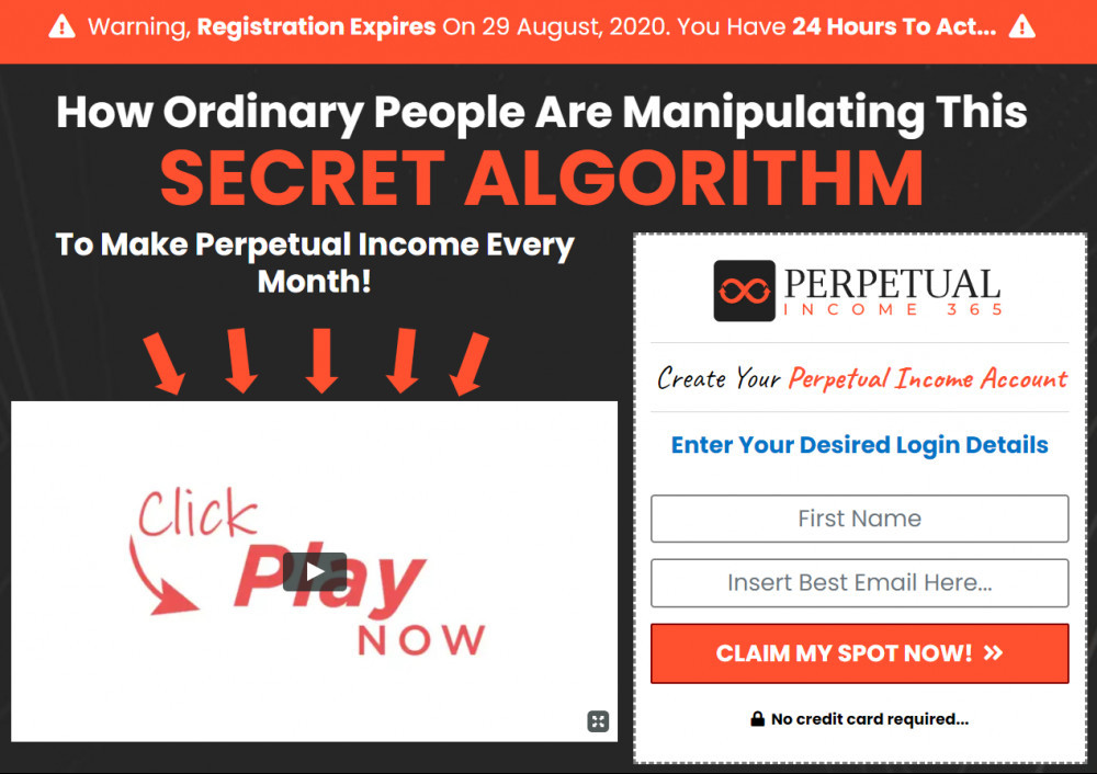What Is Perpetual Income 365 About - secret algorithm