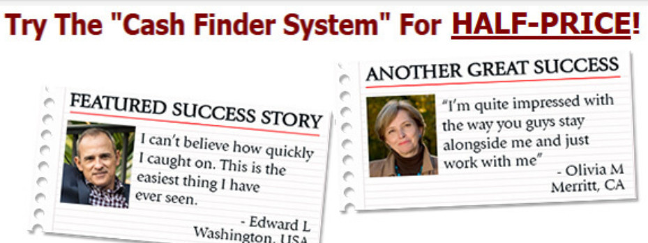 What Is The Cash Finder System About? testimonials