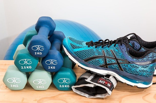 What Is The Power Of Thought - exercise weights, shoes and gloves