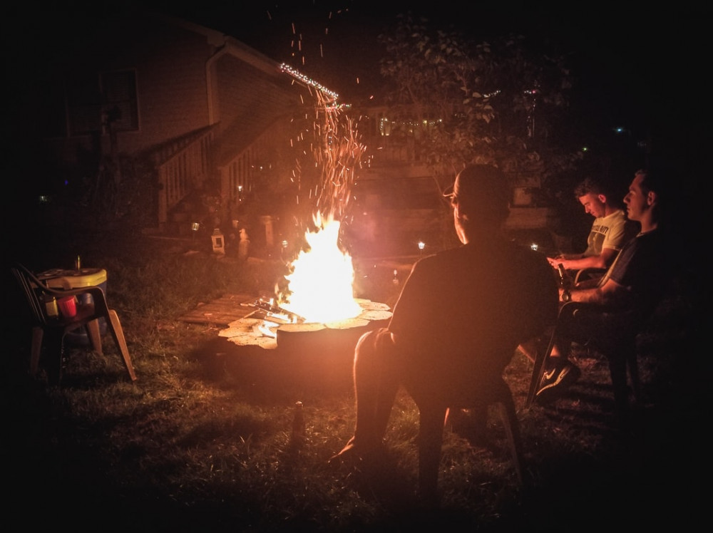 Canada Day with COVID - camp fire