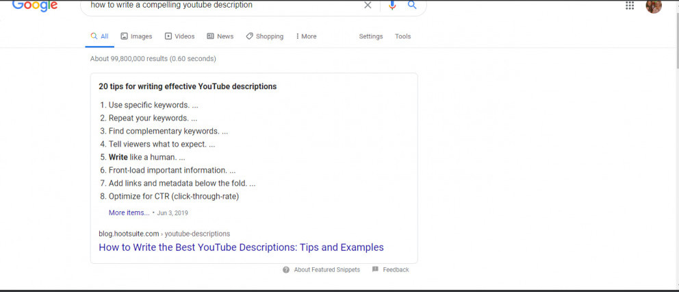 Write a compelling YouTube description