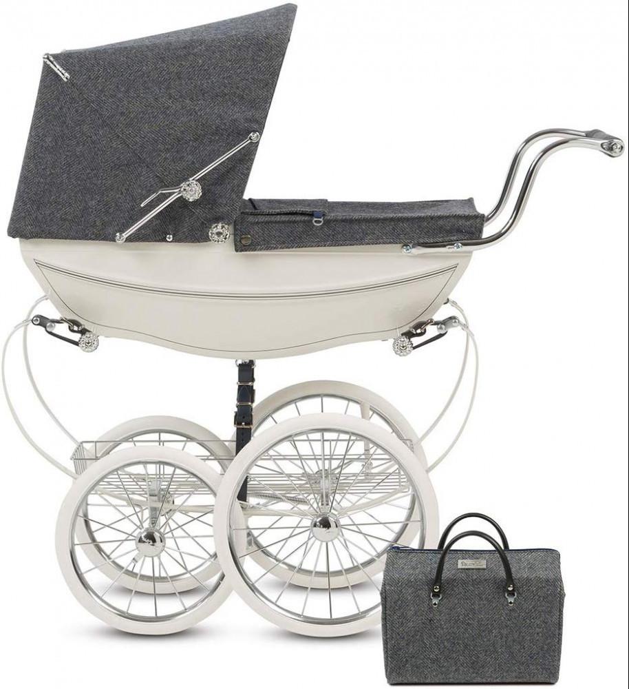 Silver Cross-Luxury-140th-Anniversary-Balmoral-Dolls-Pram-Including-Matching-bag