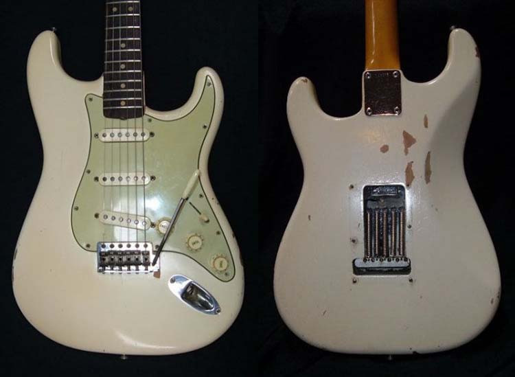 Jimi Hendrix' White 1963 Fender Stratocaster