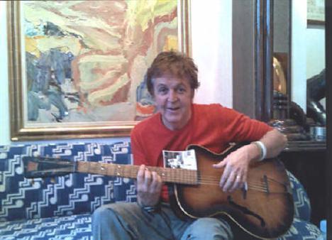 Sir Paul McCartney with Rex Acoustic Guitar