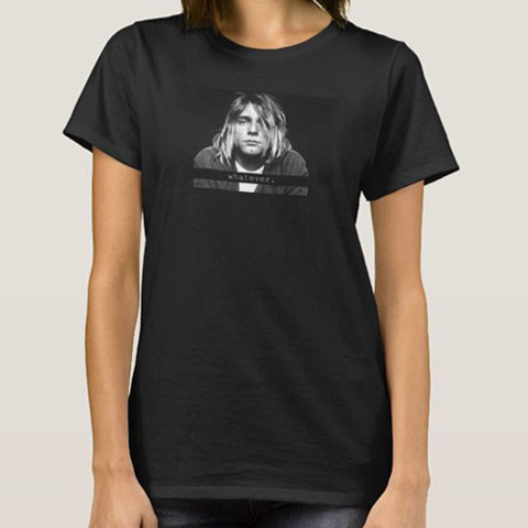 Left handed guitar shirts - Kurt Cobain - Whatever