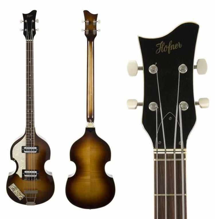 Paul MacCartney - Left Handed 1966 Hofner Bass