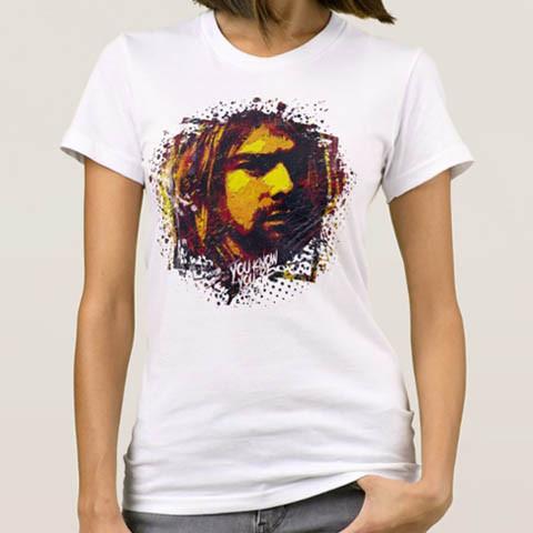 Left handed guitar shirts - Kurt Cobain - Art
