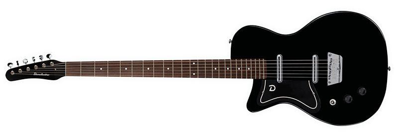 Left handed Danelectro guitars - A black Baritone